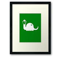 White Dinosore Framed Print