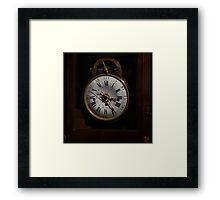 antique clock Framed Print