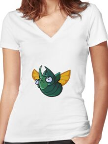 Cute Beetle  Women's Fitted V-Neck T-Shirt