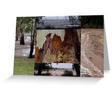 RAIN collage Greeting Card