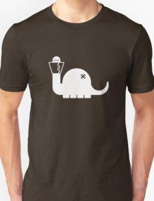 White Dinosore Unisex T-Shirt