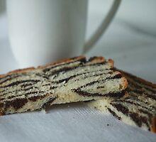 slices of cake with poppy seeds by mrivserg
