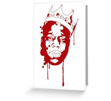 Biggie Smalls / Red Greeting Card