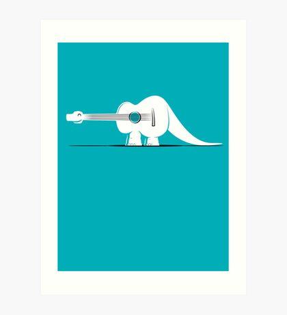 Guitarosaurus Art Print