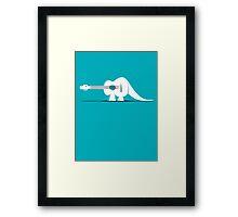 Guitarosaurus Framed Print