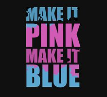"""Make It Pink! Make It Blue!"" (BLACK) Women's Tank Top"