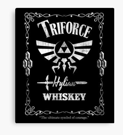 Triforce Whiskey Canvas Print