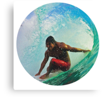 Surfing Indonesia Canvas Print