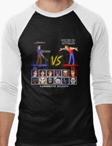 Super 80's Good Vs. Evil 2! Men's Baseball ¾ T-Shirt