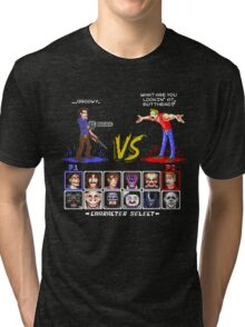 Super 80's Good Vs. Evil 2! Tri-blend T-Shirt