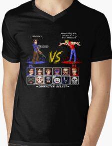 Super 80's Good Vs. Evil 2! Mens V-Neck T-Shirt