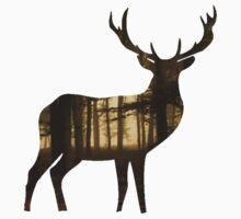 Deer forest One Piece - Short Sleeve