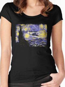Starry Time Travel Women's Fitted Scoop T-Shirt