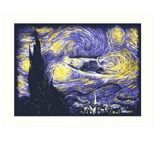 Starry Time Travel Art Print