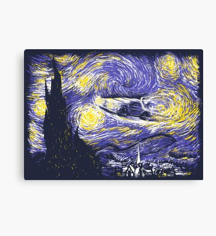 Starry Time Travel Canvas Print