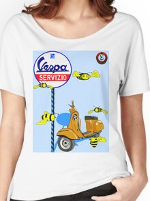 Vespa service station  Swarm Baby Blue shadow Women's Relaxed Fit T-Shirt
