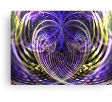 Wisteria Heart Canvas Print
