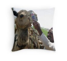 Camels go better with Pepsi! Throw Pillow