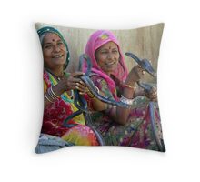 Snake women of Jaipur Throw Pillow