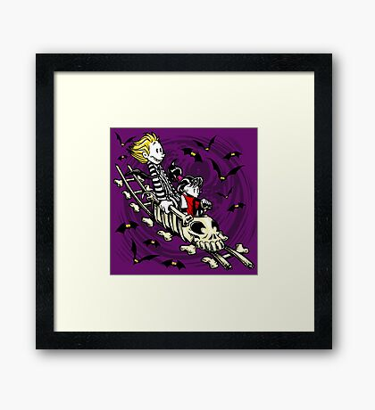 Calvydia and Beetlehobbes (Dark Shirts) Framed Print