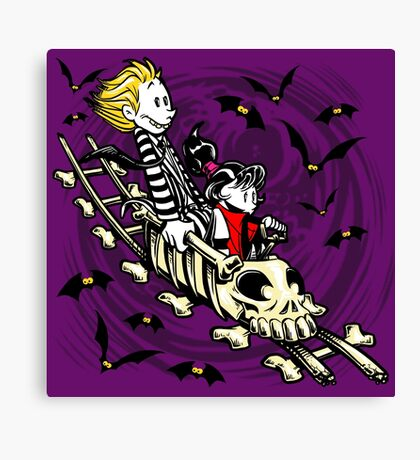 Calvydia and Beetlehobbes (Dark Shirts) Canvas Print