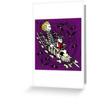 Calvydia and Beetlehobbes (Dark Shirts) Greeting Card