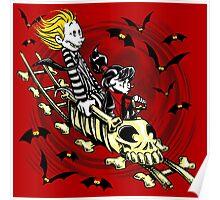 Calvydia and Beetlehobbes (Light Shirts) Poster