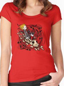 Calvydia and Beetlehobbes (Light Shirts) Women's Fitted Scoop T-Shirt