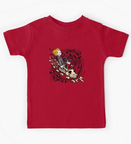 Calvydia and Beetlehobbes (Light Shirts) Kids Tee