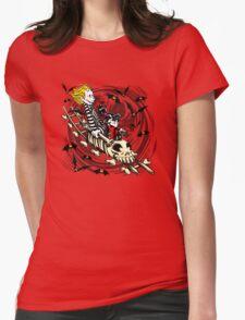 Calvydia and Beetlehobbes (Light Shirts) Womens Fitted T-Shirt