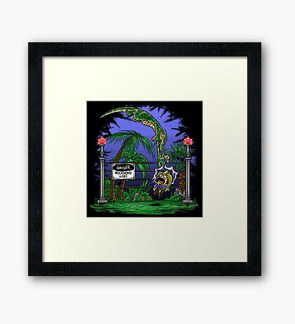 Jurassic Pounce! (Light Shirts) Framed Print