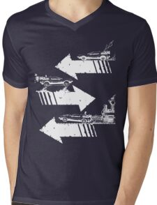 Time Distorted Minimalism Mens V-Neck T-Shirt
