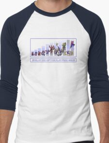 Evolution of the Platform Game Men's Baseball ¾ T-Shirt
