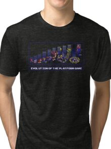 Evolution of the Platform Game Tri-blend T-Shirt