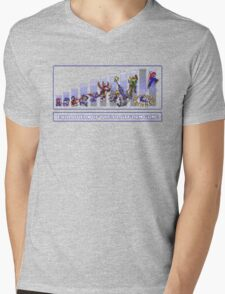 Evolution of the Platform Game Mens V-Neck T-Shirt