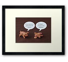 Swine Flu ? Framed Print