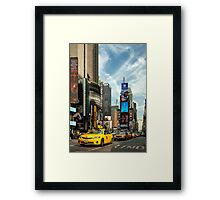 Yellow Taxi Times Square New York Framed Print