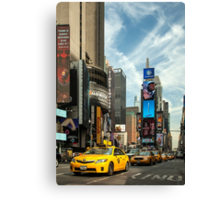 Yellow Taxi Times Square New York Canvas Print