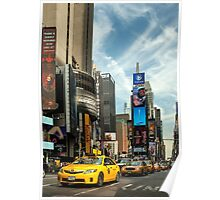 Yellow Taxi Times Square New York Poster
