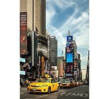 Yellow Taxi Times Square New York Photographic Print