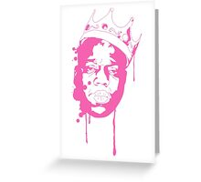 Biggie Smalls / Pink Greeting Card