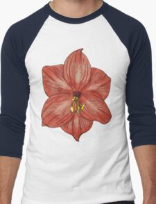 Amaryllis Men's Baseball ¾ T-Shirt