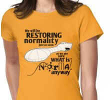 Restoring Normality (black) Womens Fitted T-Shirt