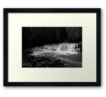 Dismal Falls in B&W  with video Framed Print