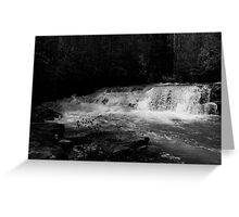 Dismal Falls in B&W  with video Greeting Card