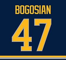 Buffalo Sabres Zach Bogosian Jersey Back Phone Case by Russ Jericho