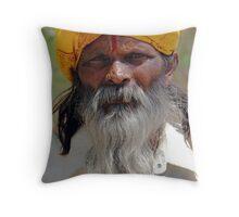 Portrait of an Indian. Throw Pillow