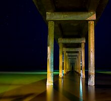 a still night at brighton beach by Andre Gascoigne
