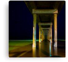 a still night at brighton beach Canvas Print