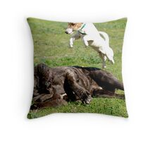 'Super dog!' Throw Pillow